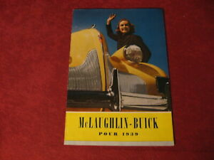 1939 Buick McLaughlin Canada French Sales Brochure Booklet Catalog Book Old