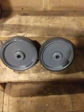 Vintage 8 Inch Cast Iron Industrial Cart Wheels