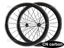 Alloy brake surface 50mm Clincher carbon bike wheelset
