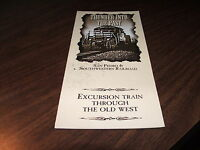 1996 SAN PEDRO AND SOUTHWESTERN RAILROAD TIMETABLE AND  BROCHURE