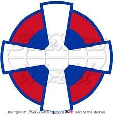 "SERBIA Serbian AirForce Aircraft Roundel 100mm (4"") Vinyl Sticker, Decal"