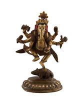 Soprammobile Tibetano Da Ganesh Alla Testa Elefante 12.5 CM Rame Nepal AFR9-6100