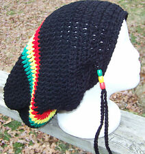 Handmade crocheted RASTA dreadlock slouchy hat ON SALE