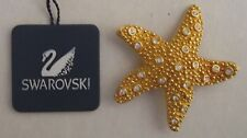 Signed Swarovski Starfish Brooch/Pin
