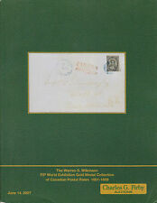 CATALOG WARREN WILKINSON GOLD MEDAL COLLECTION CANADIAN POSTAL RATES 1851-1859