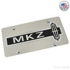 Lincoln Logo + MKZ Name Stainless License Plate