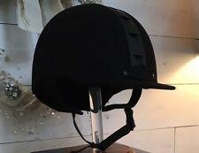 New International ATH Riding Helmet Size 6 3/4 - Black  -  ASTM SEI Certified
