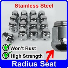 16 x ALLOY WHEEL NUTS FOR HONDA CIVIC (ROUND SEAT) STAINLESS CAP LUG BOLT [J40]