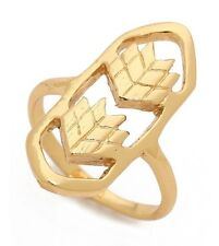 Gorjana Reidel Jewelry 18K Gold Lima Lima Chevron Cutout Shield Ring, Size 7 NEW