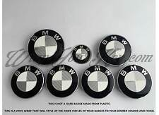 WHITE &SILVER CARBON FIBER Badge Overlay FOR BMW HOOD TRUNK RIMS @FITS ALL BMW@