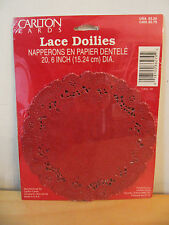 "NEW Carlton Cards Valentine's Day 6"" Red Lace Doilies ~ 20 Pack"