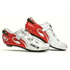 Sidi Wire Vent Carbon Men's Road Cycling Shoes, EU 44 /US 10, Red/White Vernice