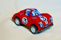 "New Vintage Tin Toy Sanko Metal Friction 3"" Red Ferrari Race Car Made in Japan"