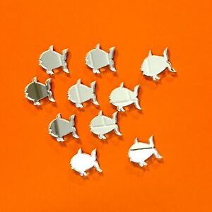 Pack of Fish Craft Scrapbook Card Embellishment Wedding Decor Acrylic Mirrors