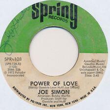 "Joe Simon – Power Of Love / The Mirror 7"" Very good Cond Vinyl and plain cover"