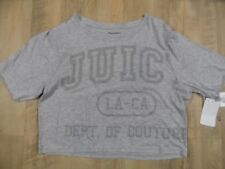 Juicy Couture corto camisa Heather Cozy Graphic té gris talla s nuevo