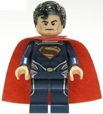 LEGO Super Heroes Superman Dark Blue Suit Minifigure from 76002
