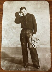 NEW REAL PICTURE PC OF WILL ROGERS (1879-1935) INDIAN-COWBOY FROM OKLAHOMA
