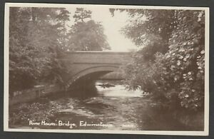 Postcard Edwinstowe nr Mansfield Nottinghamshire the River Maun Bridge early RP