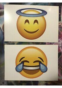 emoji postcards laughing funny angel emojis x 2 cards 😂😇 free shipping 🇦🇺
