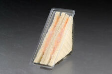50 x Plastic Sandwich Triangle/Box/Container Catering Takeaway Hinged Pack Lunch