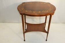 Gorgeous Inlaid Marquetry Maple & Rosewood Center Table, 19th C.