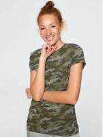 Victoria's Secret VS PINK Perfect Crew Tee T-shirt Camouflage Size M