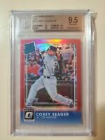 2016 Donruss Optic Red Corey Seager RR RC Rookie #ed 99 graded BGS 9.5 Gem Mint