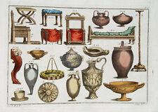 Jupiter Juno trône de lampe à huile vase grec romains Rome charpentiers or argent bronze