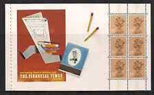 1988 GB QEII Royal mail DX9 il financial Times LIBRETTO PRESTIGE riquadro X1005L Gomma integra, non linguellato