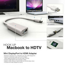 Thunderbolt 1080P Mini DisplayPort to HDMI Famale Adapter Mac Macbook Pro Air TV