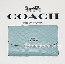 NWT Coach PYTHON Medium Envelope Wallet in Seaform F73566