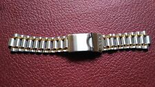 watch bands BRACELET DE MONTRE / METAL ACIER  bicolore     20mm  / OV 50