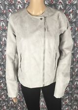 NWT Maurices Women's Gray Polyester Faux Suede Jacket Coat Lining Size Medium