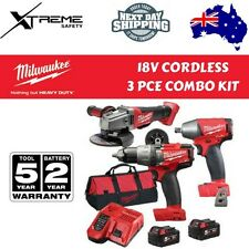 Milwaukee Cordless Fuel Power 3 PCE Combo Kit 18V 5.0Ah