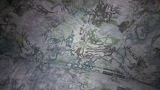 2 metres tissu jersey flamme imprimé bleu/gris 200x150 cm