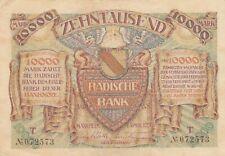 Germany Badische Bank Baden 10000 mark (1923)  B708 P-S910 PS910 VF