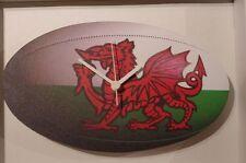 Gallese Rugby Palla Novità Orologio da parete in legno British Made From Lark Rise