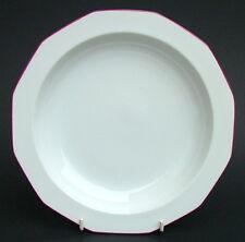 Thomas Rosenthal Red Trim Polygone Rim Soup Plates Bowls 23cm Tapio Wirkkala VGC
