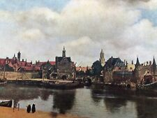 early 1900s medici masters in colour print - view of delft !