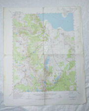 New ListingMono Craters Ca 1953 Vintage Usgs Topographic Quadrangle Map Mammoth Lakes Inyo