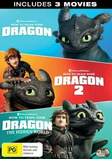 How to Train Your Dragon 1 2 The Hidden World DVD Box-set R4