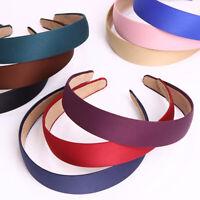Women's Wide Plastic Headband Hairband Hair Band Hoop Satin Headwear Accessories