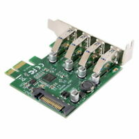 PCI-E to USB 3.0 HUB 4 Ports PCI Express Expansion Card Adapter Low Profile