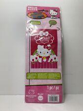 Sanrio Hello Kitty Pink with Flowers & Bow 12 X 18 Mini Garden or House Flag Nip