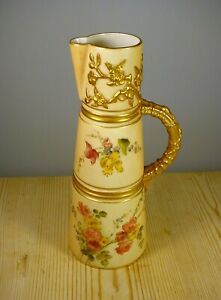 Antique Royal Worcester Blush Ivory Ewer 1047