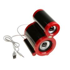 Portable Mini Wireed Speaker Musical Audio Loudspeakers For Notebook Red