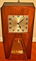 Antique Vintage Art Deco Inlaid Carillon Pendulum Striking Regulator Wall Clock