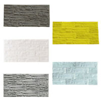 US 3D Brick PE Foam Wallpaper Panels Room Stone Decal Embossed Home Wall Stick
