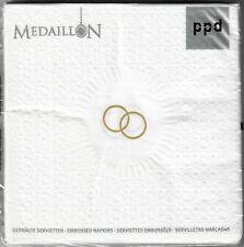 15 Servietten Geprägt Medaillon Wedding Pearl Hochzeit ppd 33x33